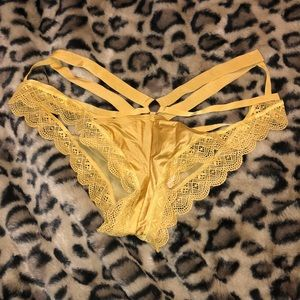 Mustard strappy lace panties